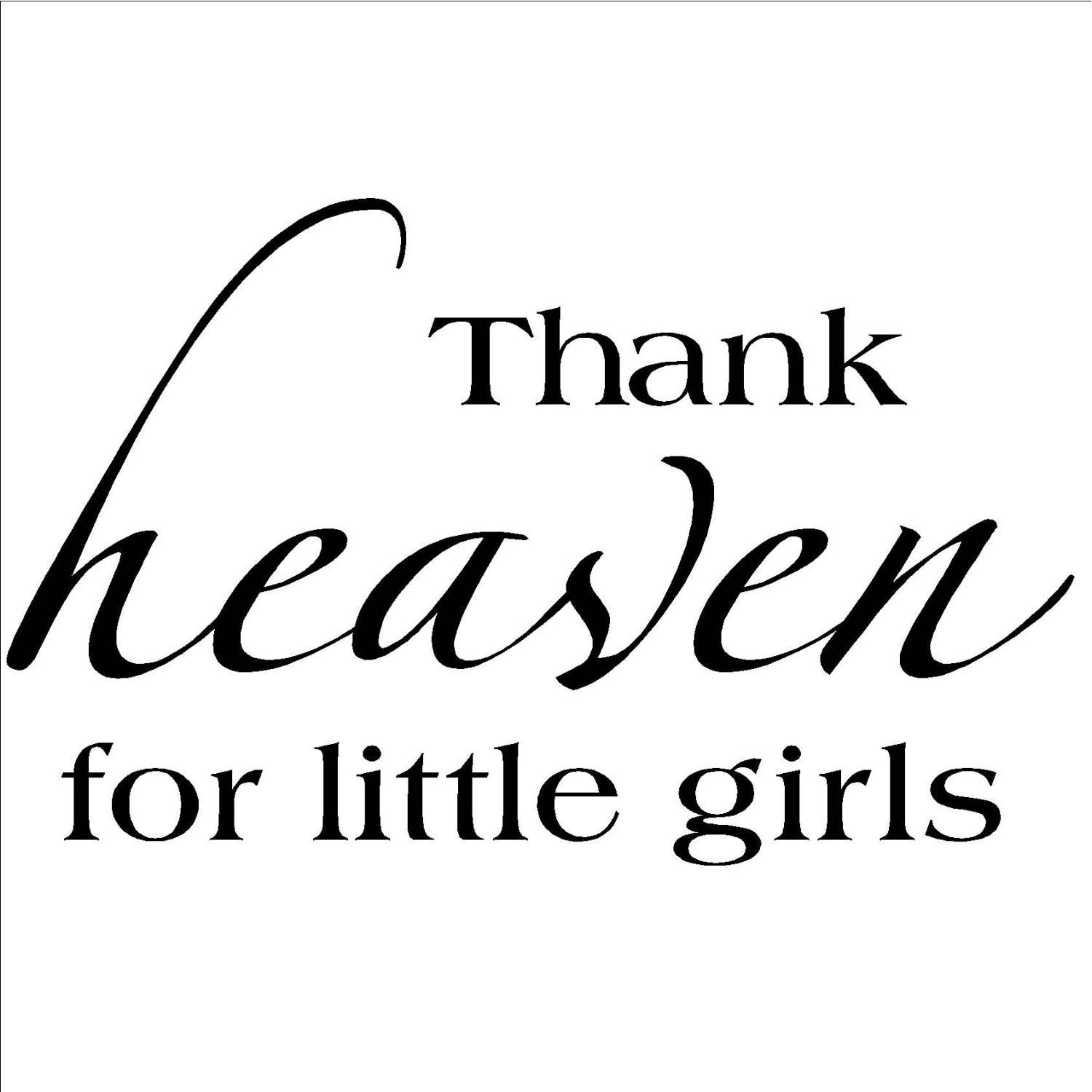 Vinyl Designs 'Thank Heavens for Little Girls' Vinyl Wall Art Lettering