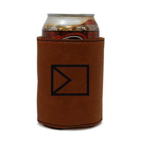 Herringbone Leather Can Sleeve, Beer Sleeve, Beer Cooler, Beer Hugger