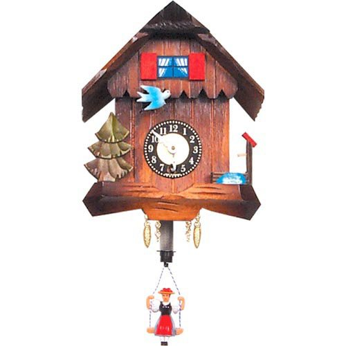 Black Forest Blue Dove Chalet Cuckoo Clock by Black Forest