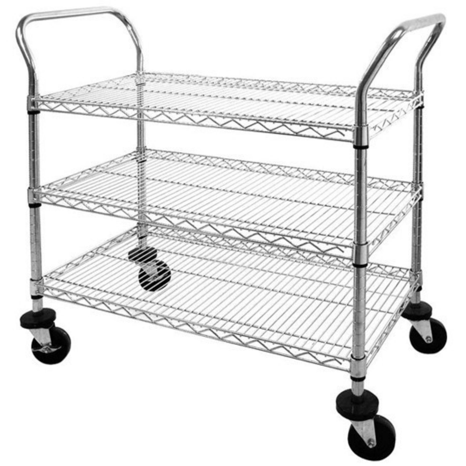 Sandusky 3-Tier 800 lb. Capacity NSF Chrome Wire Cart