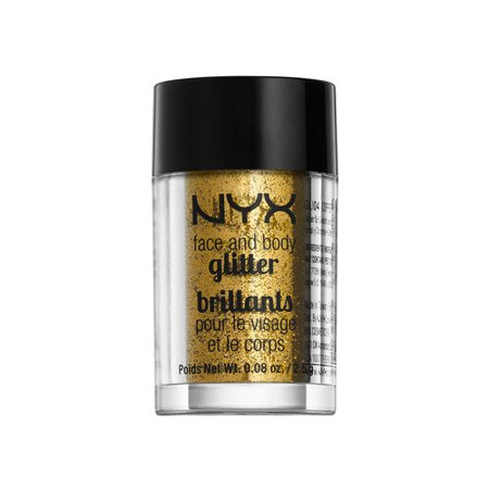 NYX Professional Makeup Face & Body Glitter Gold - 0.08oz