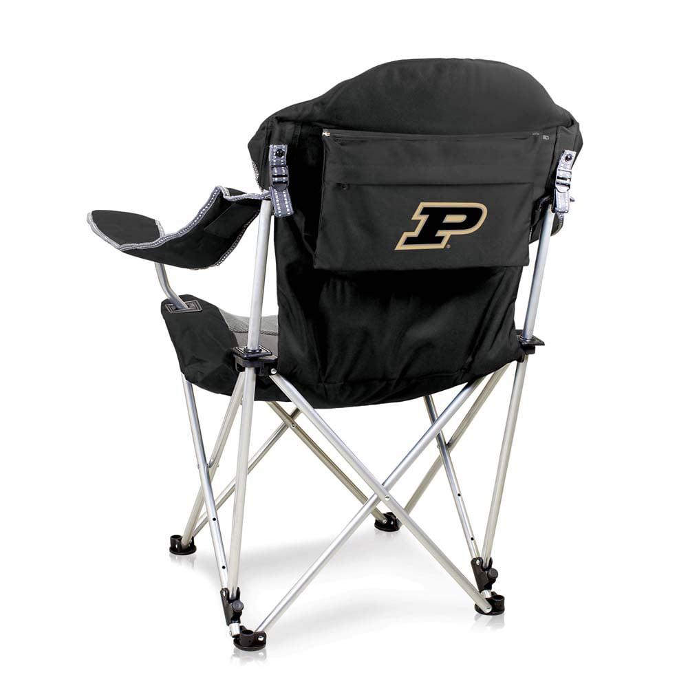 Purdue Reclining Camp Chair (Black)