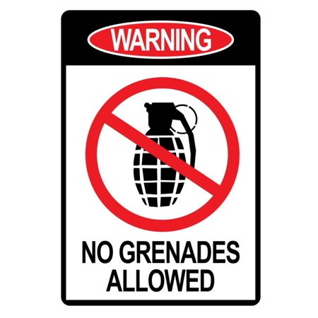 Jersey Shore No Grenades Allowed Sign TV Poster Print Print Wall Art - Jersey Shore Dress Up