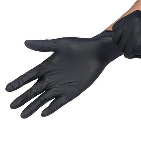 Ymiko Tattoo Gloves, Tattoo Mechanic Gloves,100Pcs/Box 2Colors 3Sizes Tattoo Nitrile Disposable Powder Free Mechanic Textured Exam Gloves](Blue Tattoos)