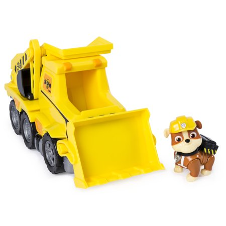 PAW Patrol Ultimate Rescue, Rubble's Ultimate Rescue Bulldozer with Moving Scoop and Lift-up Dump Bed, for Ages 3 and