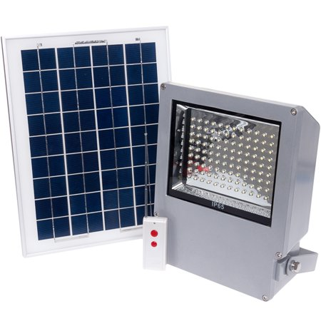 108 LED Outdoor Solar Powered Wall Mount Flood Light  Walmart.com