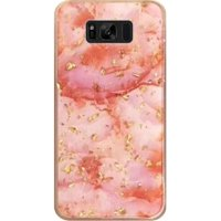HR Wireless Marble Hard Glitter TPU Cover Case For Samsung Galaxy S8 Plus - Pink