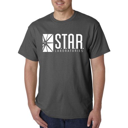Trendy USA 859 - Unisex T-Shirt Star Laboratories Labs Comic Hero XL Charcoal