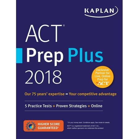 Act Prep Plus 2018   5 Practice Tests   Proven Strategies   Online