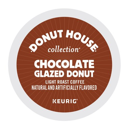 Big Train Chocolate Coffee - Donut House Collection K-Cup Coffee Pods, Chocolate Glazed Donut, Light Roast, 24 Count