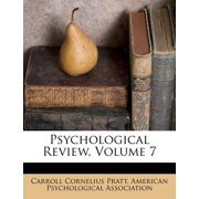 Psychological Review, Volume 7