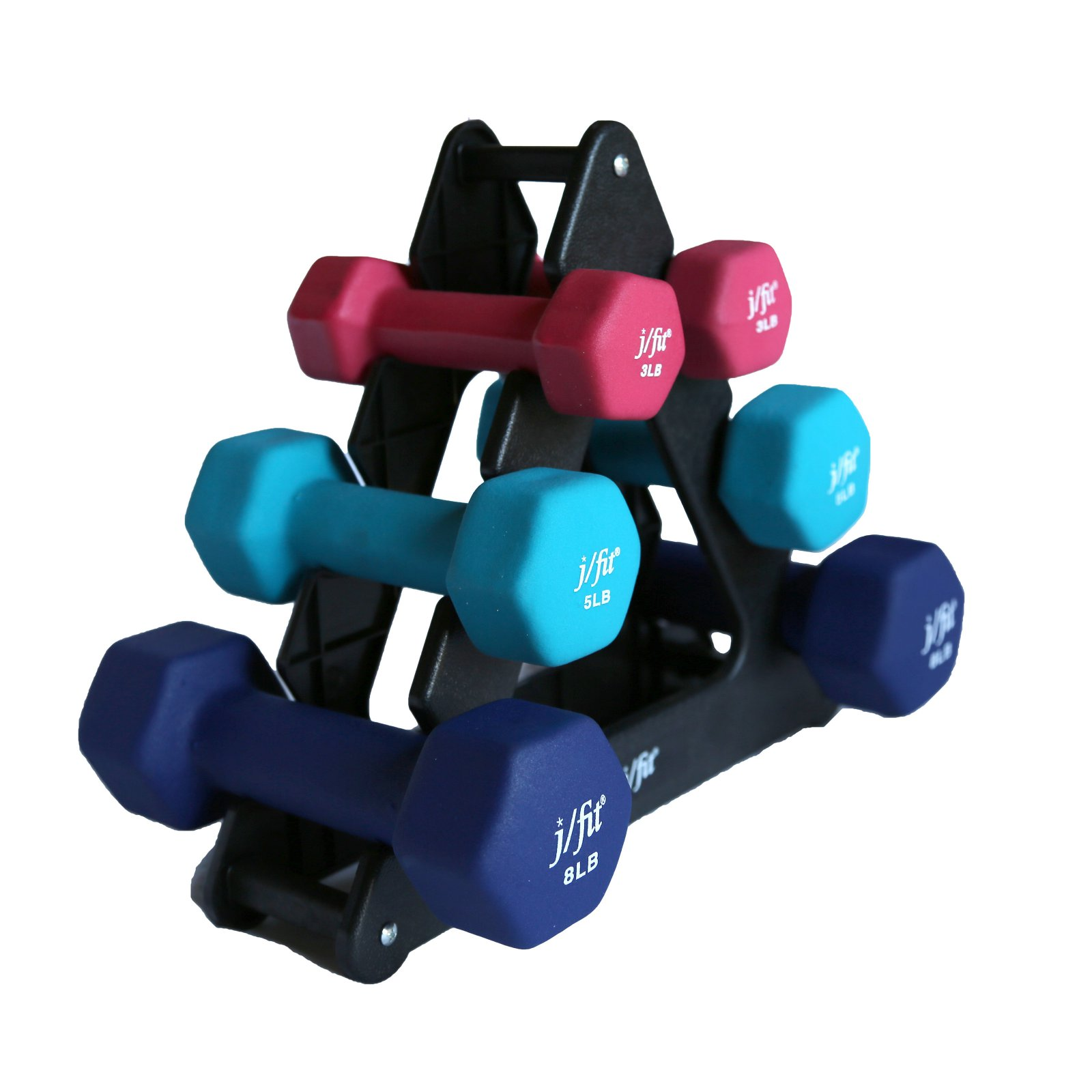 32 lbs. Dumbbell Set with Rack