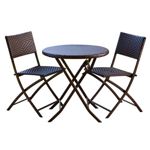 RST Brands Wicker 3 Piece Bistro Set