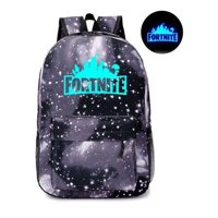 Fortnite School Backpack Childrens Fort Nite Travel Bag Black Galaxy Stars Luminous Illuminating Fortnite Backpack