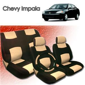 2001 2002 2003 2004 Chevy Impala Synthetic Leather Seat Cover Set ALL FEES INCLUDED! ()