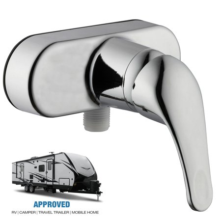 RV Mobile Travel Trailer Shower Faucet Single Handle Lever Diverter, Chrome