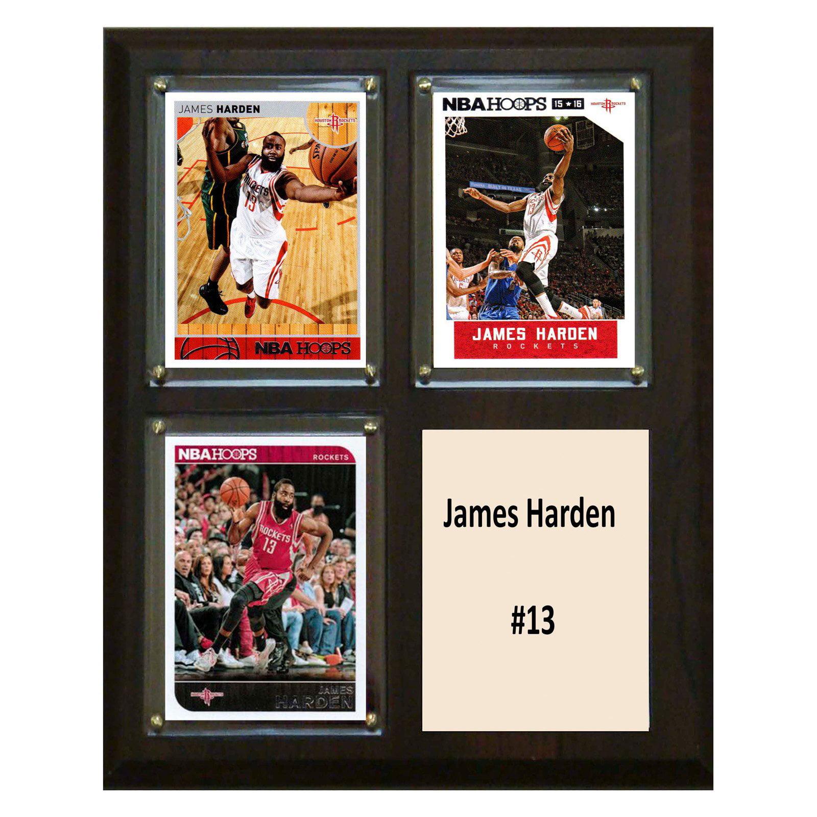 C&I Collectables NBA 8x10 James Harden Houston Rockets 3-Card Plaque