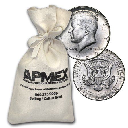 - 90% Silver Kennedy Half-Dollars $50 Face-Value Bag (1964)