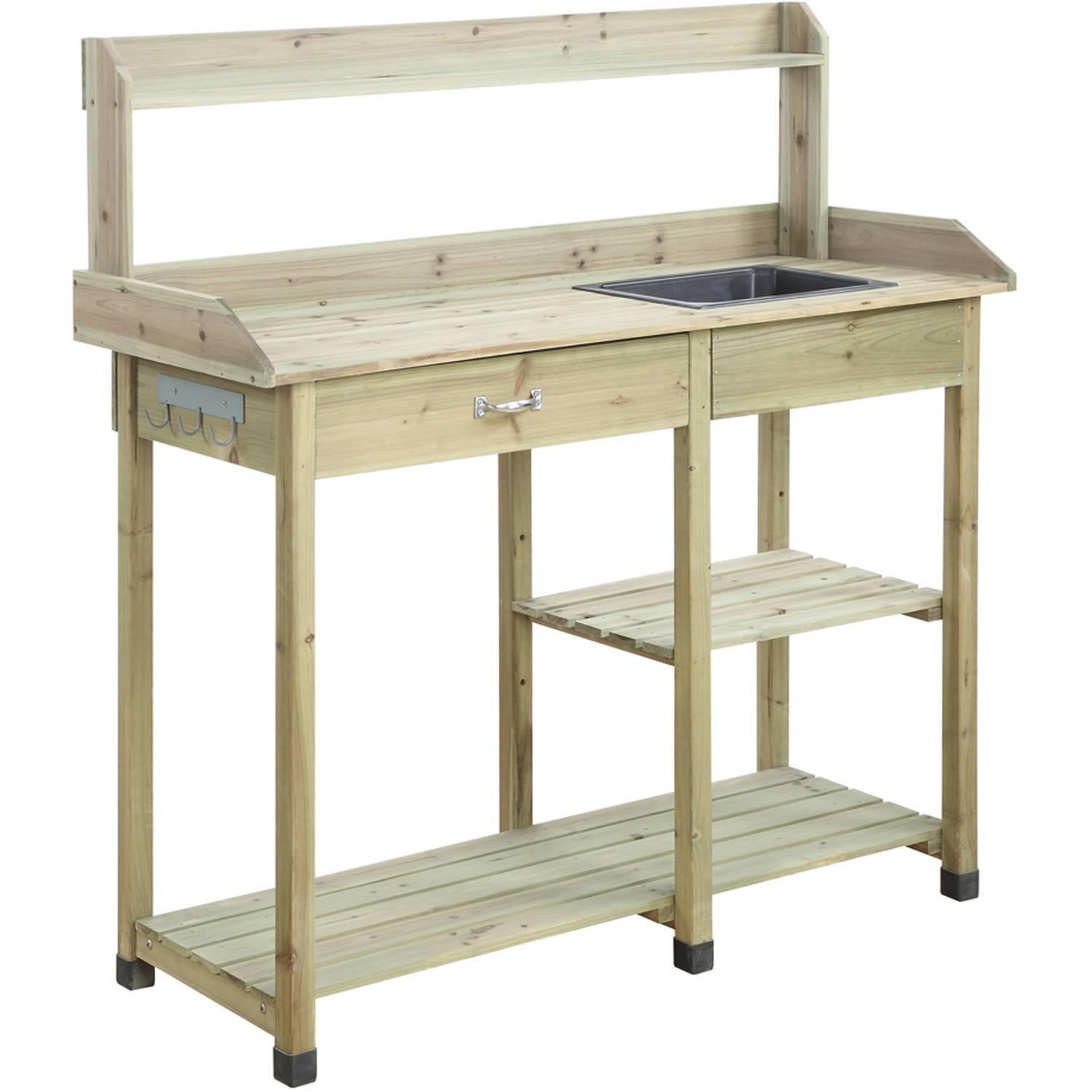 Convenience Concepts Planters And Potts Deluxe Potting Bench   Walmart.com