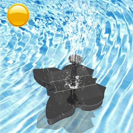 Solar Fountain Pump, Butterfly Shaped Free Standing Bird Bath Fountain Solar Panel Water Pump for Birdbath, Pond, Pool,Garden and Lawn, Black - image 3 of 8