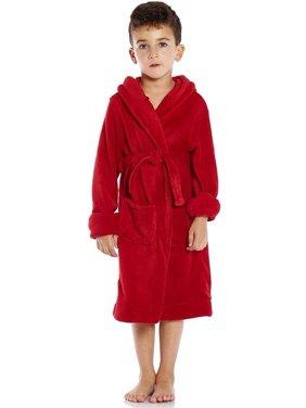 Leveret Kids Fleece Sleep Hooded Robe Magenta Size 10 Years