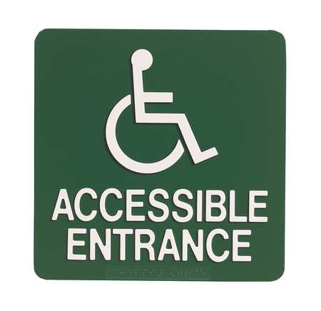 SIGN COMPLY 42294-6 NAVY BLUE Braille Sign