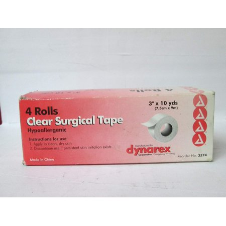 TAPE SURGICAL TRANSPARENT (4) Size: 3