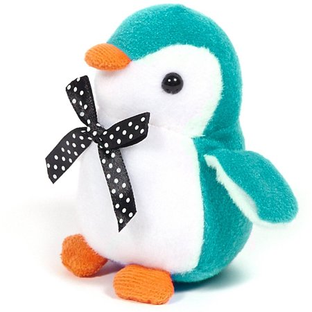 Turquoise Penguin Stuffed Animal, 4-Pack