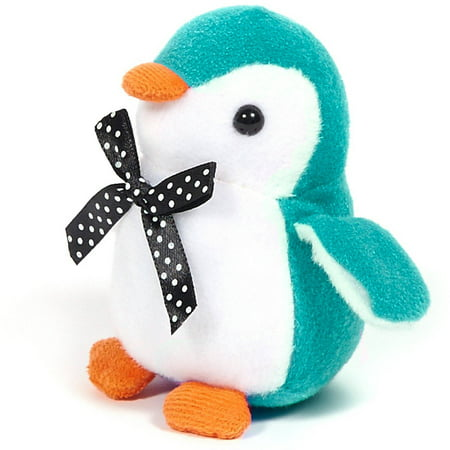 Turquoise Penguin Stuffed Animal, 4-Pack (Blue Flame Stuff)