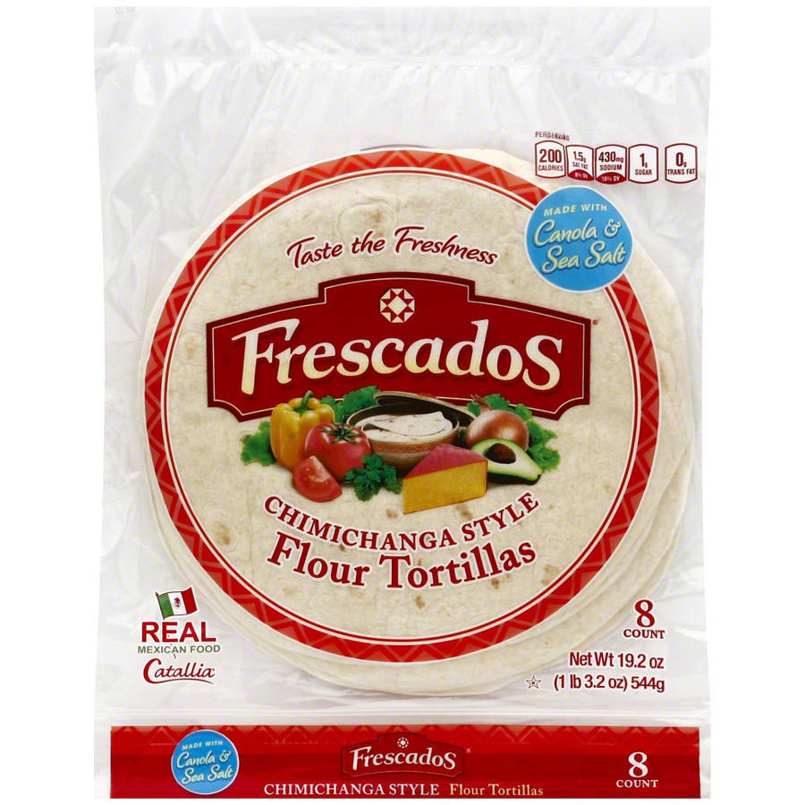 Frescados Chimichanga Style Flour Tortillas, 19.2 oz, (Pack of 12) by
