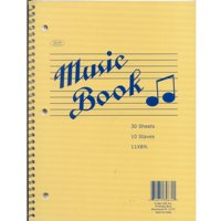 "Music Notebook, 60 Pages, 11"""" x 8.5"""" Case Pack 48"