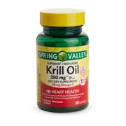 Spring Valley Pure Krill Oil Softgels, 1000 mg, 30 Count