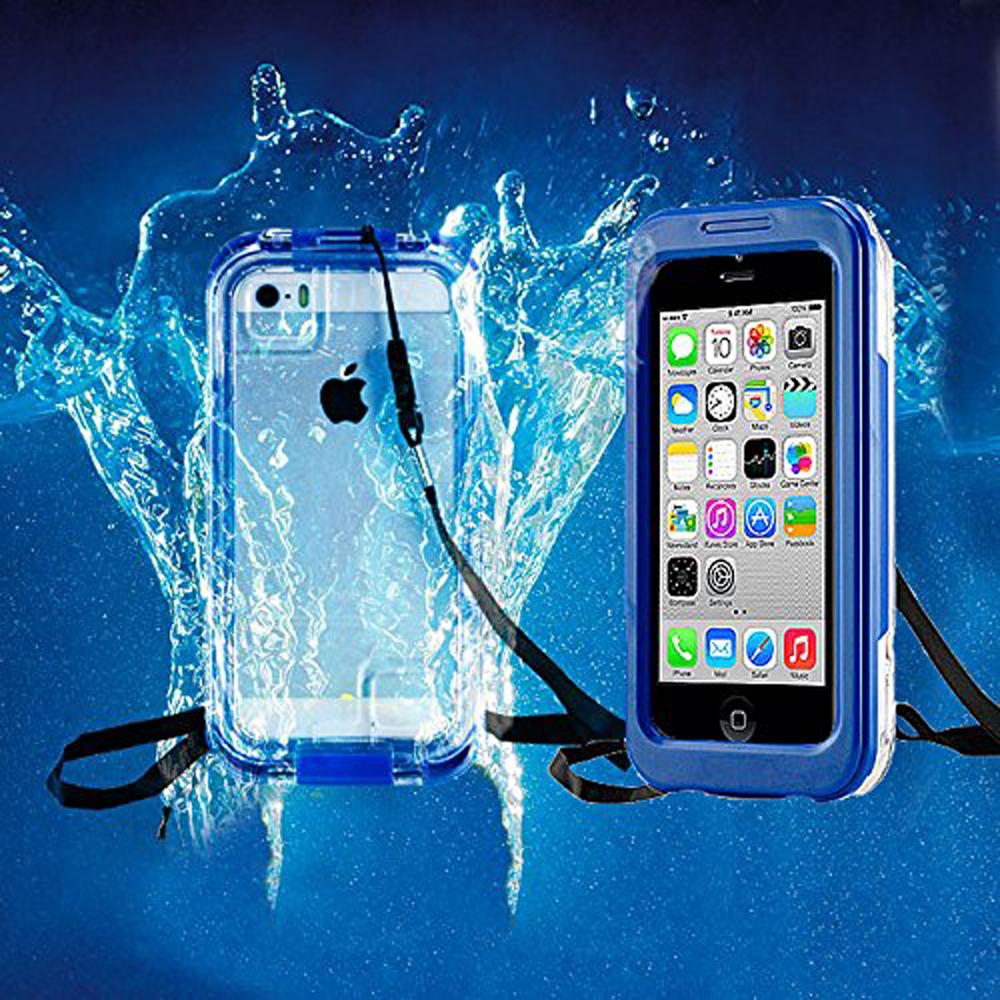 IPhone 7 Full Body Sealed Waterproof Snowproof Shockproof Dirtproof Case Blue