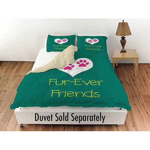 "Thumbprintz Forever Friends Teal Standard Sham, 30"" x 22"""