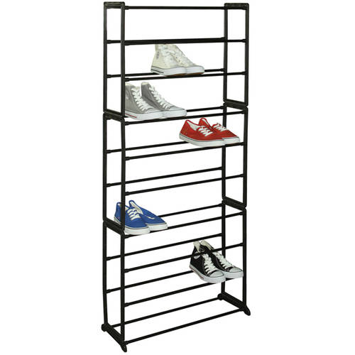 Sunbeam 30-Pair Shoe Rack, Black