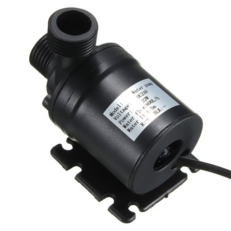 Black submersible DC 24V 800 L/H Hot Water Circulation Pump Solar Water Pump Brushless Motor 5m Lift ()