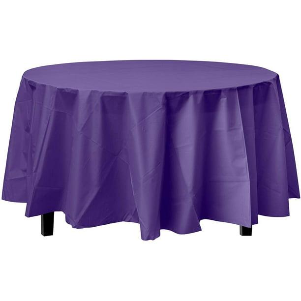 Bulk Premium Plastic Disposable 84 Inch, 60 Inch Round Tablecloth Disposable