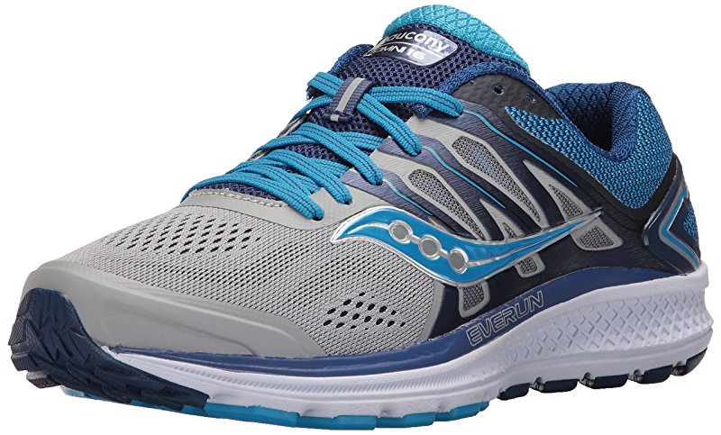 Saucony Women's Omni 16 Running Shoe, Grey Blue, 6.5 Medium US by Saucony