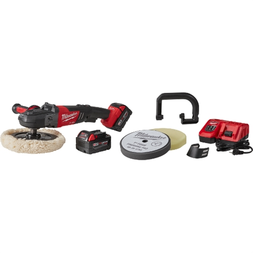 Milwaukee Electric M18 FUEL 7 Variable Speed Polisher- Kit MWK2738-22P by Milwaukee Electric