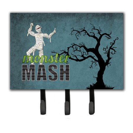 Caroline's Treasures Monster Mash with Mummy Halloween Leash Holder and Key Holder