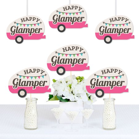 Let's Go Glamping - Decorations DIY Camp Glamp Party or Birthday Party Essentials - Set of 20