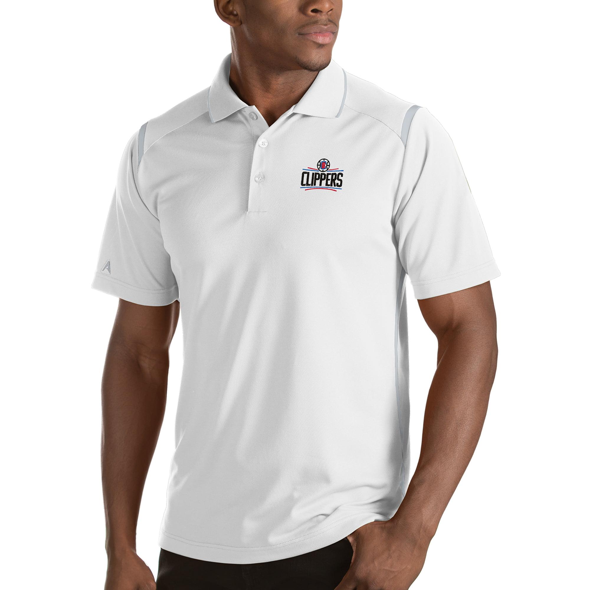 LA Clippers Antigua Merit Polo - White