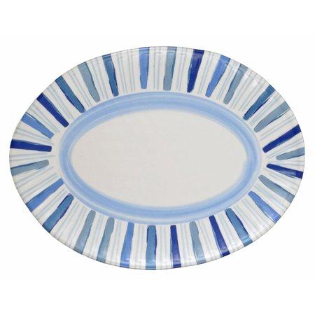 Merritt Watercolor Blues Striped 13