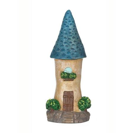 Mini Blue Tower Gnome Home Figurine - Garden Fantasy by Ganz