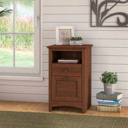 Bush Furniture Buena Vista 2 Drawer File Cabinet in Serene (Bush Cherry File Cabinet)