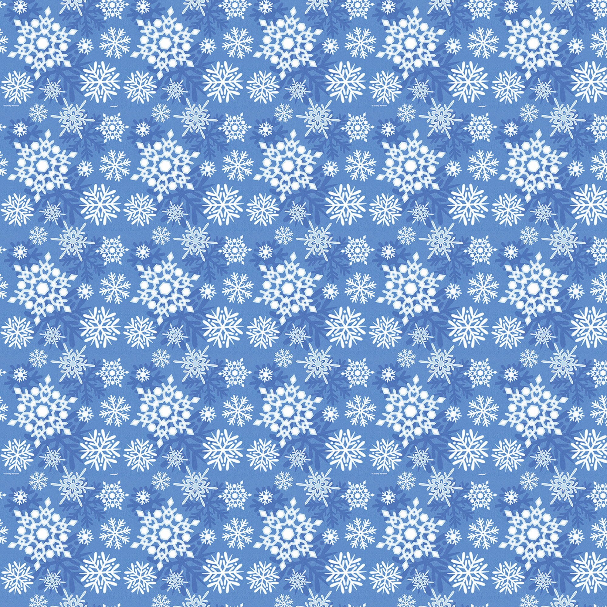 Winter Snowflake Holiday Wrapping Paper