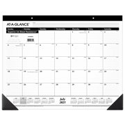 """AT-A-GLANCE July 2021 - June 2022 Monthly Desk Pad, 21 3/4"""" x 17"""" (AY24BW0022)"""