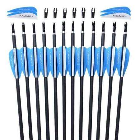 12pcs 28 inch Carbon Arrows Archery traget Spine 1000 plastic feature For bow thumbnail