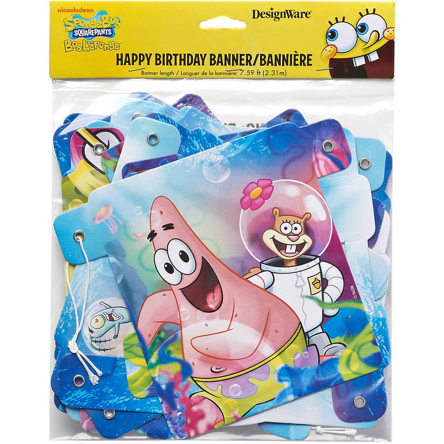 SpongeBob SquarePants Birthday Party Banner, Party Supplies