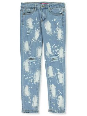 Blue Label Girls' Bleach Spot Jeans